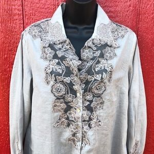 New with tags Soft Surroundings Lace Tunic top